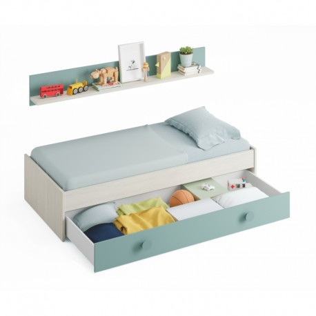 Lit tiroir 90x190 sans literie