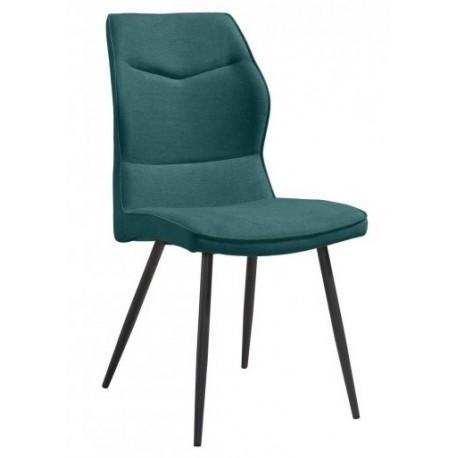 Chaise couleur bleu azur moucheté