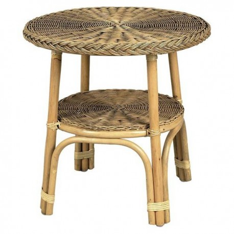 table basse rotin - rotin table