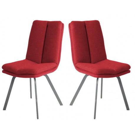 chaises salle à manger rouge