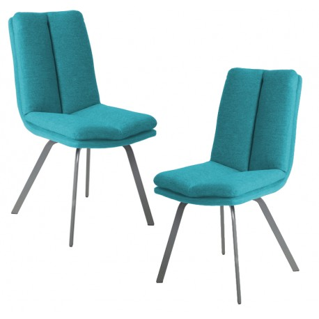 Chaise bleu turquoise