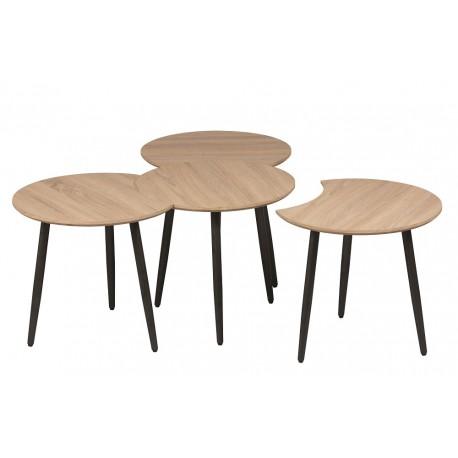 Petites tables deco noire et blanches