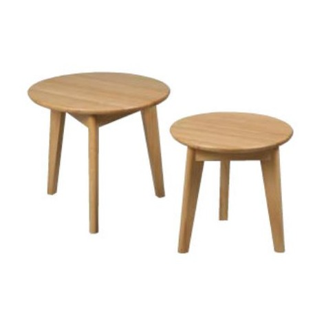 Tables d'appoint rondes chene