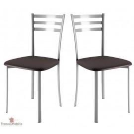 Chaises de cuisine assise tissu noir