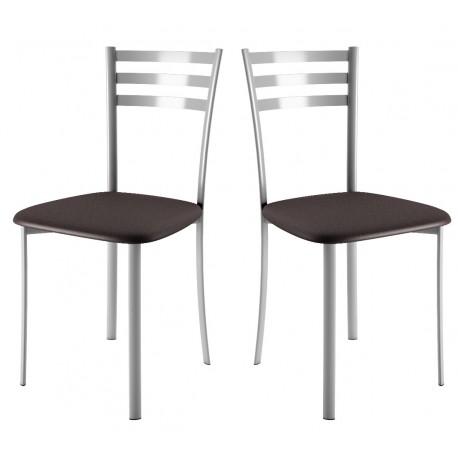 Chaise de cuisine assise tissu noire