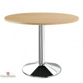 Table ronde plateau chêne