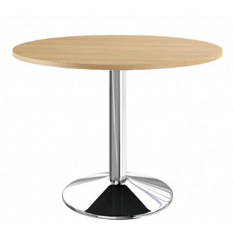 Table ronde de cuisine chêne