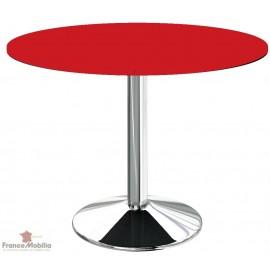 Table ronde pour cuisine rouge