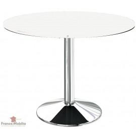 Table ronde pour cuisine blanche