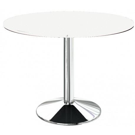 Table ronde blanche de cuisine