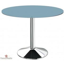 Table ronde pour cuisine bleue