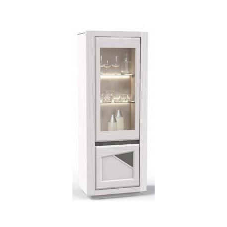 Meuble vitrine colonne - porte vitrée