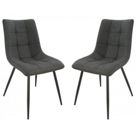 chaise tissu gris anthracite