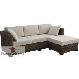Canapé 3 places meridienne