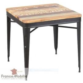 Table carrée industrielle 4 personnes