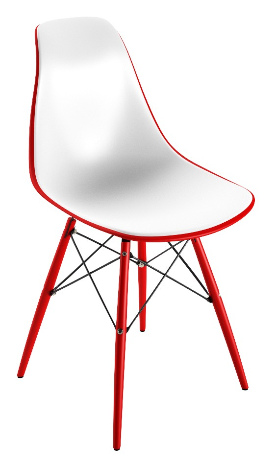 Chaise PVC couleur Rouge
