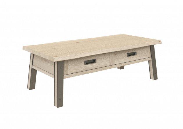 Table-basse-de-salon-en-chene-et-metal