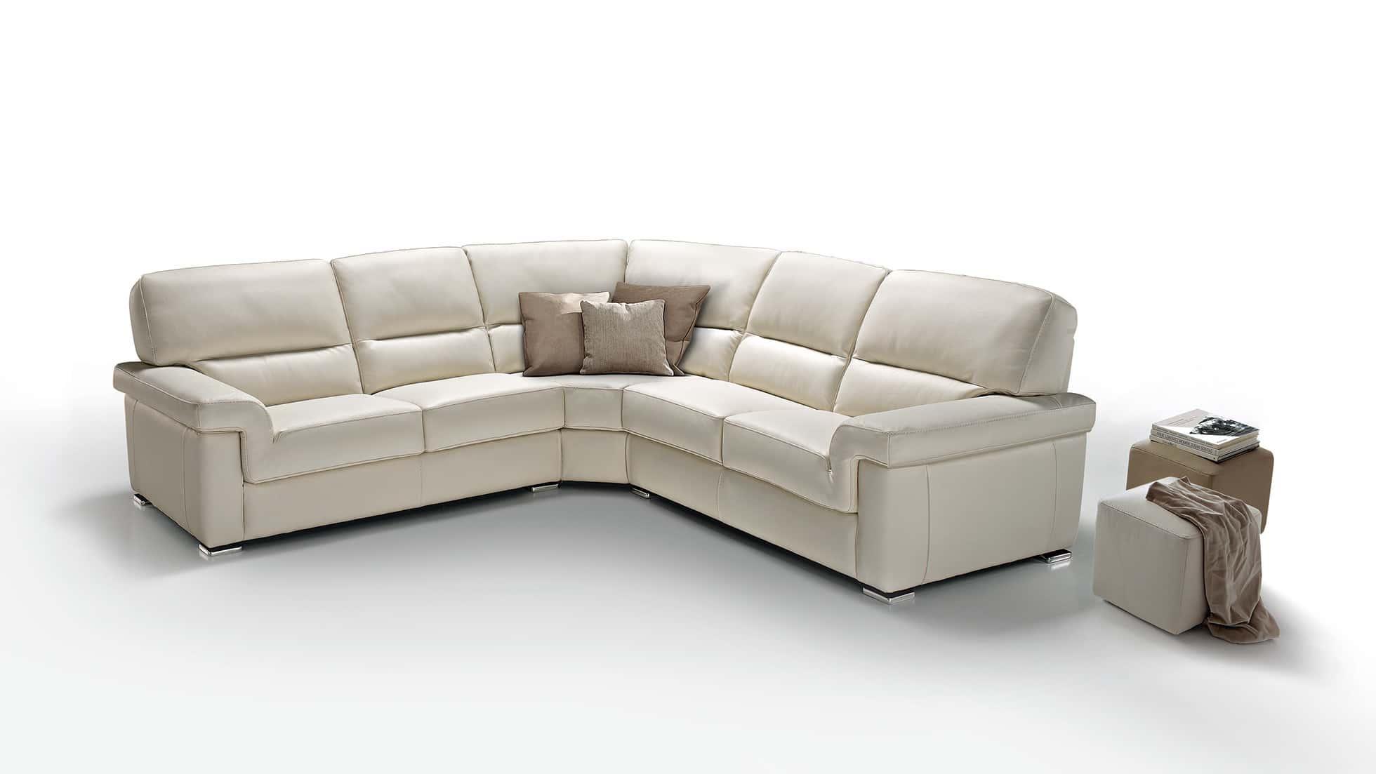 Canapé d'angle cuir shine